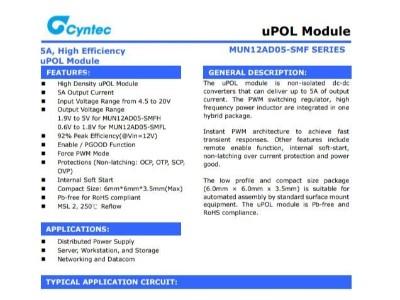 电源模块MUN12AD05-SMFH乾坤代理——新世技术