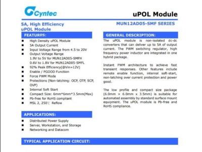 电源模块MUN12AD05-SMFL乾坤代理——新世技术