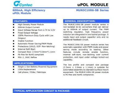 电源模块MUN3C1HR6-SB乾坤代理——新世技术