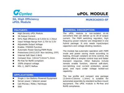 电源模块MUN3CAD03-SF乾坤代理——新世技术